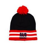 Barbórka Rally Stripe Winter Hat with tassel Navy - Red