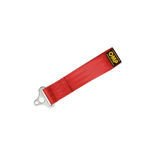 "OMP 2"" Red Tow Hook Strap (FIA Homologation)"