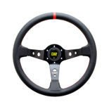 OMP CORSICA BLACK Leather Steering Wheel