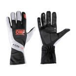 OMP KS-3 Black-White and Fluo Orange Gloves