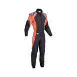 OMP KS-3 FLUO Kid black - orange Karting Suit (with CIK FIA homologation)