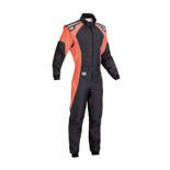 OMP KS-3 FLUO black - orange Karting Suit (with CIK FIA homologation)