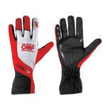 OMP KS-3 Red and White Gloves