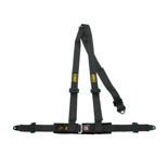 OMP Road 3 - points Safety Belts ECE, DA504 Black