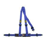 OMP Road 3 - points Safety Belts ECE, DA504 Blue