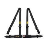 OMP Road 4 - points Safety Belts ECE, DA505 Black