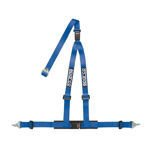 "Sparco 3 - point 2"" Safety Belts, cleaved at the back, blue"