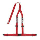 "Sparco 3 - point 2"" Safety Belts with standard bolts, red"