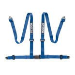"Sparco 4 - point 2"" Safety Belts with standard bolts, blue"