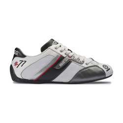 Sparco Time 77 Shoes - White-Black