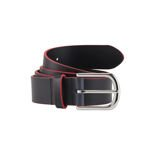 Aston Martin Racing Leather Belt Navy