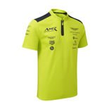 Aston Martin Racing Mens Team Polo Shirt Lime