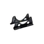 OMP ADJUSTABLE Seat Mount Brackets Aluminium Black