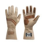 OMP DIJON ecru Racing Gloves (with FIA homologation)