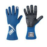 OMP FIRST-S MY16 Blue Racing Gloves (FIA)