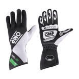 OMP KS-2 Black - White - Green Gloves