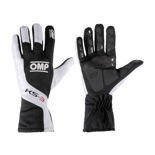 OMP KS-3 Black and White Gloves