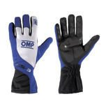 OMP KS-3 Blue and White Gloves