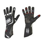 OMP ONE EVO black/white Racing Gloves (FIA)