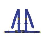 OMP Racing 4 - points Safety Belts ECE, DA508 Blue