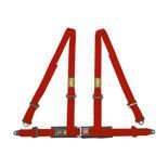 OMP Road 4 - points Safety Belts ECE, DA505 Red