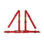 OMP Road 4 - points Safety Belts ECE, DA507 Red
