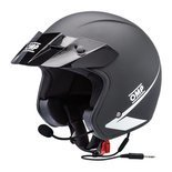 OMP STAR-J Open Face Helmet Black