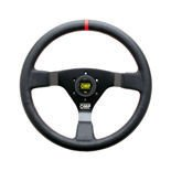 OMP WRC Leather red stitching Steering Wheel