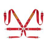 "Sabelt Safety Belts 6 - points Steel Saloon Rally 3"" Red (with homologation FIA)"