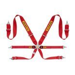 Sabelt Safety Belts 6 - points Steel Saloon Rally 3x2 Red (with homologation FIA)