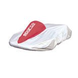 Sparco Kart Cover silver and red