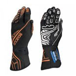 Sparco Race Gloves LAP RG-5 Black/Orange (with FIA homologation)