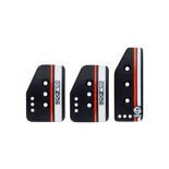 Sparco SETTANTA black pedal pads (normal gas)