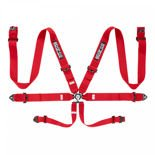Sparco Safety Belts 6 - points 04818RAC Red  (with homologation FIA)