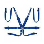 Sparco Safety Belts 6 - points 04818RH Blue (with homologation FIA)