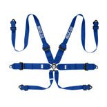 Sparco Safety Belts 6 - points 04818RHAL Blue (with homologation FIA)