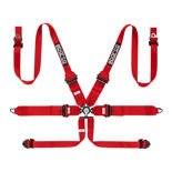 Sparco Safety Belts 6 - points 04818RHALPD Red (with homologation FIA)