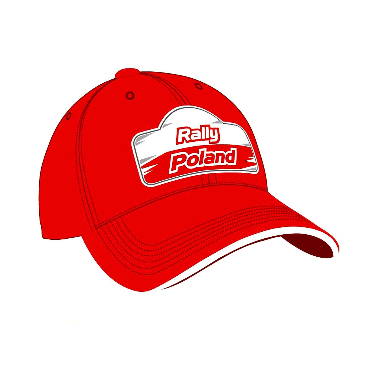 fcf001cec 2019 Rally Poland ERC Mens Logo Baseball Cap red | Caps \ Adults |  Rallymerchandise.eu