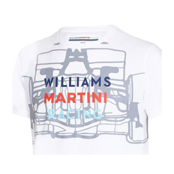 FAN Williams Martini Racing Mens Car T-shirt White