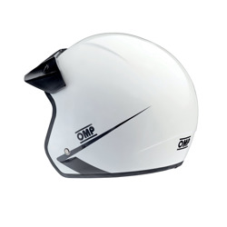 2017 OMP Star Open Face Helmet White