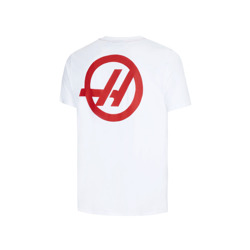 Haas F1 Team Mens Pocket T-shirt White
