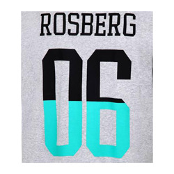 Mercedes AMG Petronas F1 Team Mens Rosberg 06 T-shirt Grey