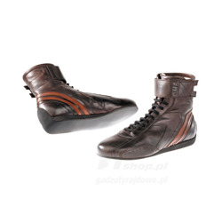 OMP CARRERA High dark brown Racing Shoes (with FIA homologation)