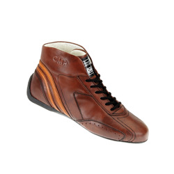 OMP CARRERA low Brown Racing Shoes (with FIA homologation)