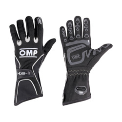 OMP KS-1 Black - Grey Gloves