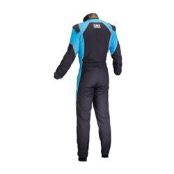 OMP KS-3 FLUO black - blue Karting Suit (with CIK FIA homologation)