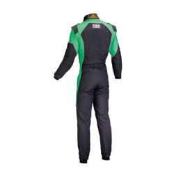 OMP KS-3 FLUO black - green Karting Suit (with CIK FIA homologation)