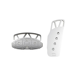 OMP OA/1072/A standard silver Pedal Pads