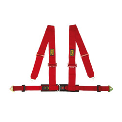 OMP Racing 4 - points Safety Belts Red ECE, DA508