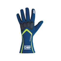 OMP TECNICA S MY18 Blue Racing Gloves (FIA)